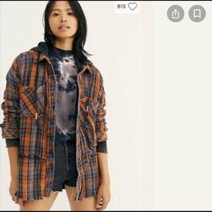 Free People | Calico Basin Plaid over sized jacket